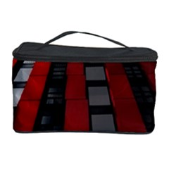 Red Building City Cosmetic Storage Case