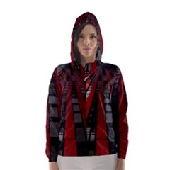 Red Building City Hooded Wind Breaker (women)