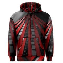 Red Building City Men s Zipper Hoodie