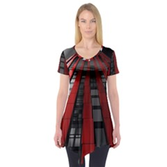 Red Building City Short Sleeve Tunic