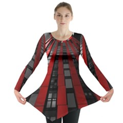 Red Building City Long Sleeve Tunic