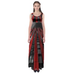 Red Building City Empire Waist Maxi Dress