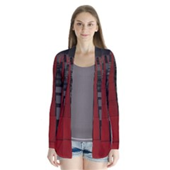 Red Building City Cardigans
