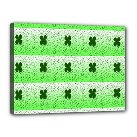 Shamrock Pattern Background Canvas 16  x 12