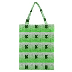 Shamrock Pattern Background Classic Tote Bag