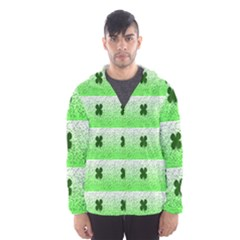 Shamrock Pattern Background Hooded Wind Breaker (Men)