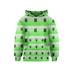 Shamrock Pattern Background Kids  Pullover Hoodie