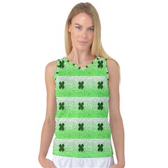 Shamrock Pattern Background Women s Basketball Tank Top