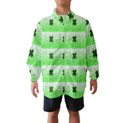 Shamrock Pattern Background Wind Breaker (kids)