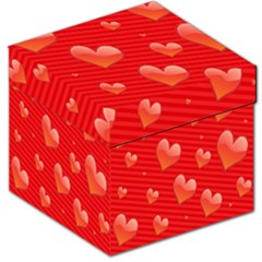 Red Hearts Storage Stool 12