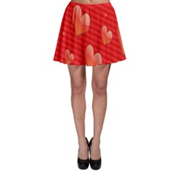 Red Hearts Skater Skirt