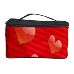 Red Hearts Cosmetic Storage Case