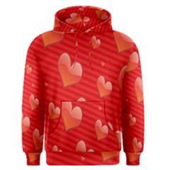 Red Hearts Men s Pullover Hoodie