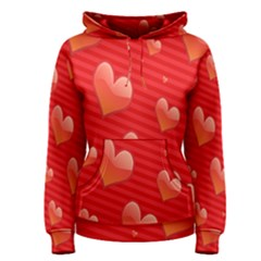 Red Hearts Women s Pullover Hoodie