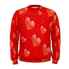 Red Hearts Men s Sweatshirt