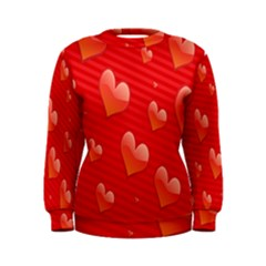 Red Hearts Women s Sweatshirt