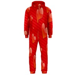 Red Hearts Hooded Jumpsuit (Men)