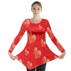 Red Hearts Long Sleeve Tunic