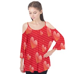 Red Hearts Flutter Tees