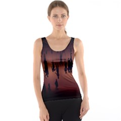 Silhouette Of Circus People Tank Top