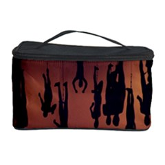Silhouette Of Circus People Cosmetic Storage Case