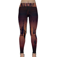 Silhouette Of Circus People Classic Yoga Leggings