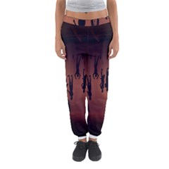 Silhouette Of Circus People Women s Jogger Sweatpants