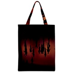 Silhouette Of Circus People Zipper Classic Tote Bag