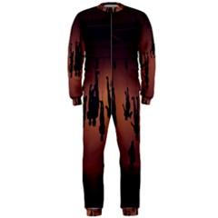 Silhouette Of Circus People OnePiece Jumpsuit (Men)