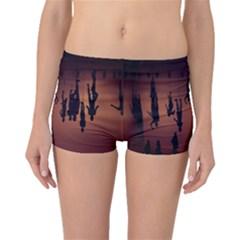 Silhouette Of Circus People Boyleg Bikini Bottoms