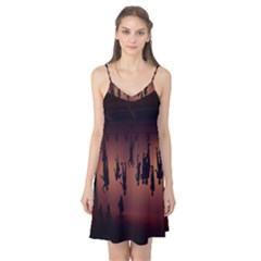Silhouette Of Circus People Camis Nightgown