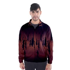 Silhouette Of Circus People Wind Breaker (Men)