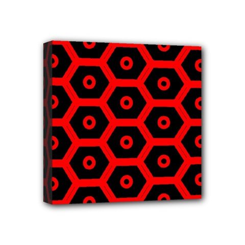 Red Bee Hive Texture Mini Canvas 4  X 4