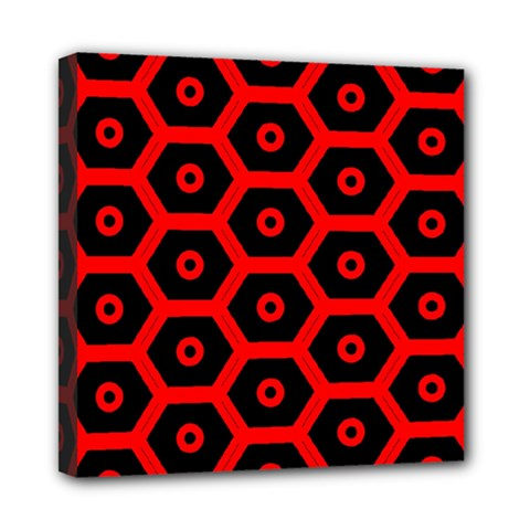 Red Bee Hive Texture Mini Canvas 8  x 8