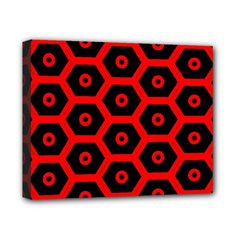 Red Bee Hive Texture Canvas 10  x 8