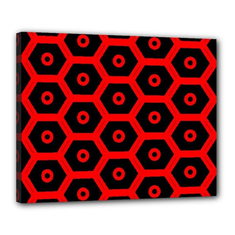 Red Bee Hive Texture Canvas 20  x 16