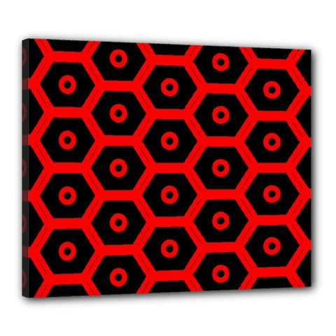 Red Bee Hive Texture Canvas 24  x 20