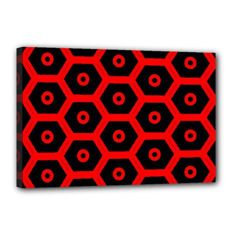 Red Bee Hive Texture Canvas 18  x 12
