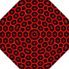 Red Bee Hive Texture Straight Umbrellas