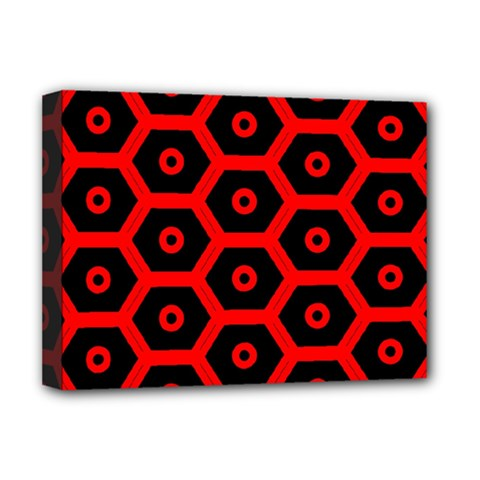 Red Bee Hive Texture Deluxe Canvas 16  x 12