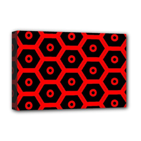 Red Bee Hive Texture Deluxe Canvas 18  x 12