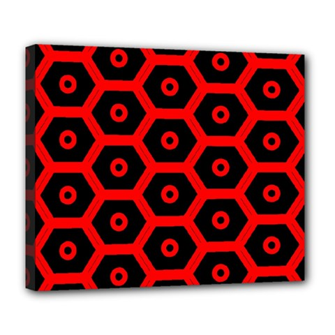 Red Bee Hive Texture Deluxe Canvas 24  x 20