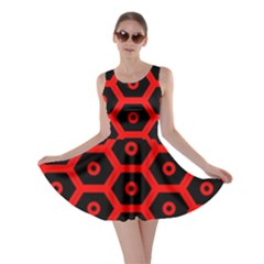Red Bee Hive Texture Skater Dress