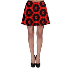 Red Bee Hive Texture Skater Skirt