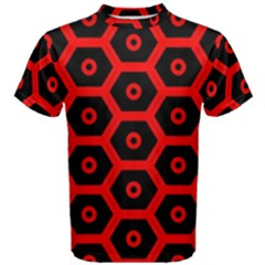 Red Bee Hive Texture Men s Cotton Tee