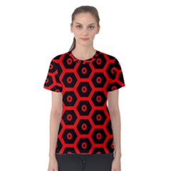 Red Bee Hive Texture Women s Cotton Tee