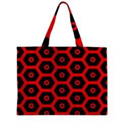 Red Bee Hive Texture Zipper Mini Tote Bag