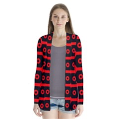 Red Bee Hive Texture Cardigans