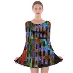 Science Center Long Sleeve Skater Dress