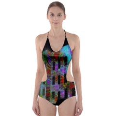 Science Center Cut Out One Piece Swimsuit